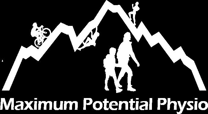 maximum potential physiotherapy white logo